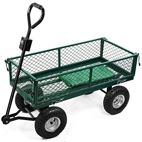 Popamazing wheeled utility steel metal hand truck cart